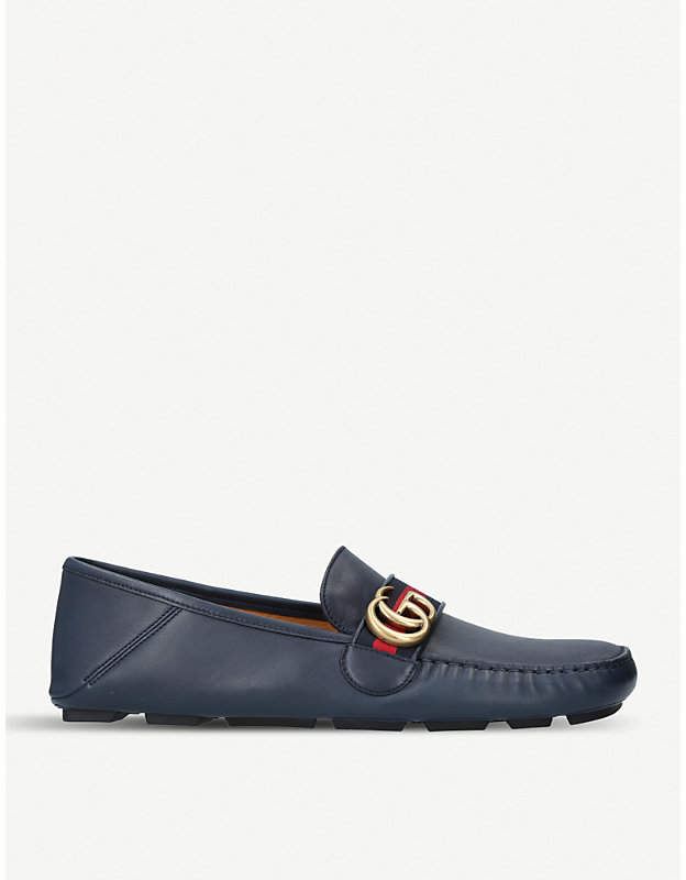 Gucci Noel leather driving shoes