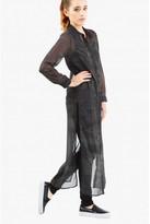Select Fashion Fashion Womens Green Smudge Print Maxi Shirt Dress - size 12