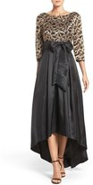 Eliza J Petite Women's Embroidered Mesh & Taffeta Gown