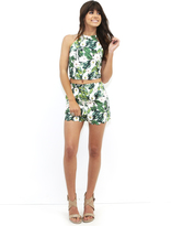 West Coast Wardrobe Sweet Surrender Hi-Waist Short and Crop Top Set in Green Multi