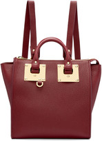Sophie Hulme Burgundy Small Holmes Backpack