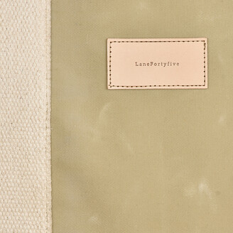 LaneFortyfive - The Basto Tote Bag - Bone White Waxed Canvas