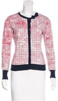 RED Valentino Bow-Accented Printed Cardigan