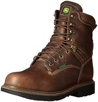 John Deere Men's 8 Brn Waterproof Steel Toe EH Farm/Wrk LU Work Boot