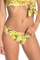 La Blanca Shine Shirred Side Floral Bikini Bottoms