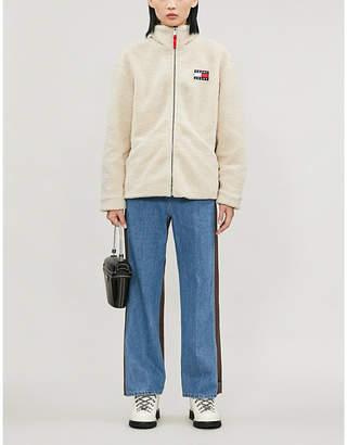 Tommy Jeans Funnel-neck fleece jacket