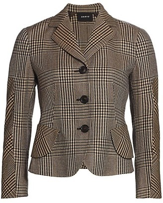 Akris Lausanne Prince De Galles Check Wool & Silk Jacket
