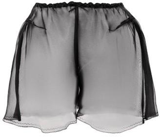 Raey X Lucy Jones Sheer Silk-organza Briefs - Black