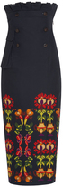 Stella Jean Ruffled High Waist Pencil Skirt