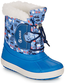 Aigle NEERVEI PRINT girls's Snow boots in Blue