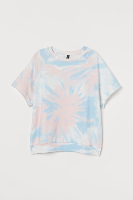 H&M Short-sleeved Sweatshirt - Pink