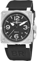Bell & Ross Men's BR-03-92-STEEL Aviation Arabic Numberal Dial Watch Watch