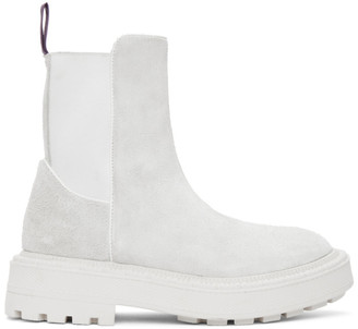 Eytys Off-White Suede Rocco Boots