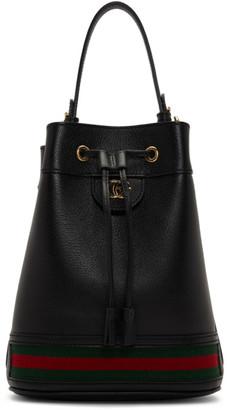 Gucci Black Ophidia Bucket Bag