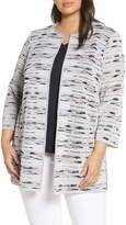 Ming Wang Longline Knit Jacket