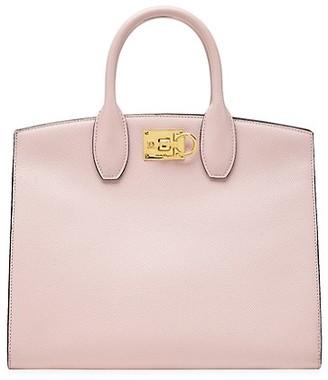 Salvatore Ferragamo Studio Leather Top Handle Bag