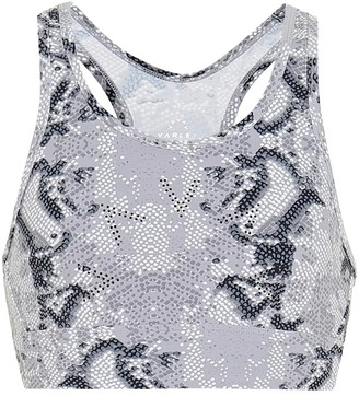Varley Berkeley snake-print sports bra