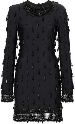Burberry Long-sleeve Embellished Mini Dress