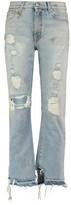 R 13 Bowie Distressed Boyfriend Jeans