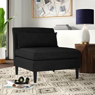 Mercury Row Hufnagel Side Chair Upholstery Color: Velvet Navy