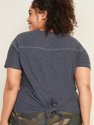 Old Navy Breathe ON Plus-Size Tie-Back Performance Tee