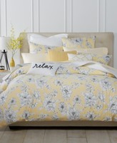 Charter Club Damask Designs Butter Floral 3-Pc. Full/Queen Duvet Set