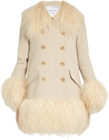 Sonia Rykiel Wool-crepe and shearling coat