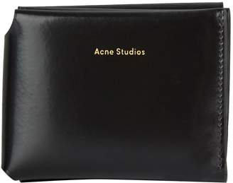 Acne Studios Leather Logo Bifold Wallet