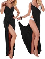 WEHOPS Women's Bikini Wrap Cover Up Spaghetti Strap Backless Beach Dress Shawl L