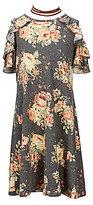 I.N. Girl Big Girls 7-16 Floral-Print Cold-Shoulder Dress