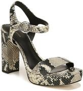 Via Spiga Saville Snakeskin Embossed Leather Sandal