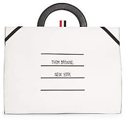 Thom Browne Men's TBNY Label Leather Flat Folio