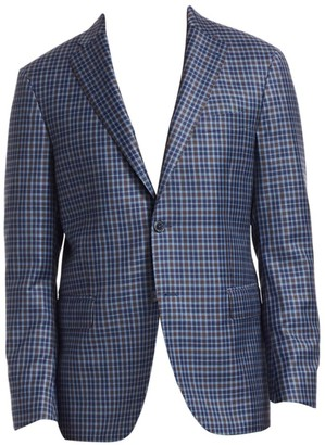 Saks Fifth Avenue Plaid Sportcoat