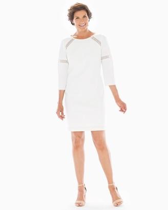 Soma Intimates Adrianna Papell 3/4 Sleeve Short Dress Ivory