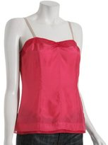 hot pink silk sweetheart camisole