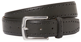 Cole Haan Perforated Trim Leather Dress Belt