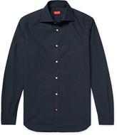 Isaia Slim-Fit Pin-Dot Cotton-Poplin Shirt
