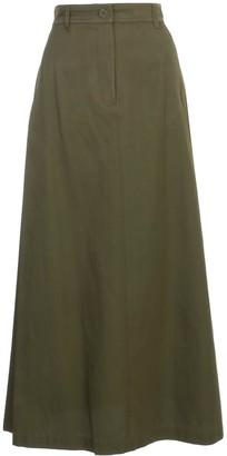 Aspesi Long Skirt Cotton And Viscose
