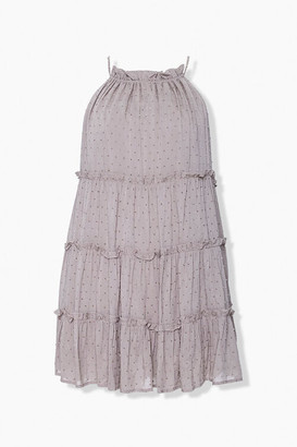 Forever 21 Clip Dot Tiered Halter Dress