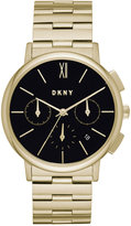 DKNY Women's Chronograph Willoughby Gold-Tone Stainless Steel Bracelet Watch 36mm NY2540