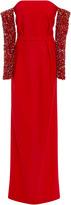 Jeffrey Dodd Embellished Sleeves Gown