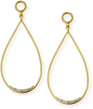 Jude Frances Provence 18k Large Open Teardrop Earring Charms w/ Diamonds
