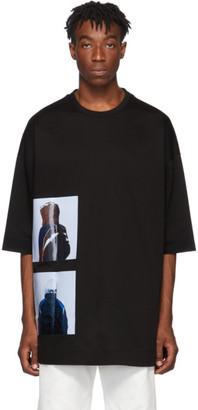 Juun.J Black Karel Funk Oversized Print T-Shirt