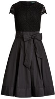Ralph Lauren Lace Cap-Sleeve Cocktail Dress