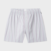 Paul Smith Men's Grey Signature Stripe Cotton Boxer Shorts