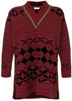 Fendi scalloped oversized sweater