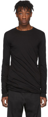 Rick Owens Black Double Long Sleeve T-Shirt