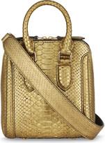 Alexander McQueen Mini Herione python-skin shoulder bag