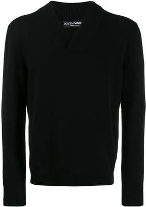 Dolce & Gabbana ribbed v-neck jumper