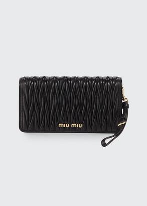 Miu Miu Matelasse Wallet On A Chain Tech Case